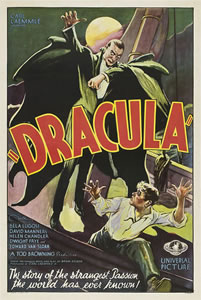 This 1931 Dracula poster was sold on march 22, 2009 for $310,700 to the American super collector Ralf DeLuca. There are only three copies of this 1931 Dracula poster known to exist. One of these posters is in the collection of American actor Nicolas Cage.