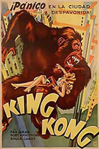 King Kong 1933. This is a Vintage Film Poster from Argentina and shows signs of natural ageing.
