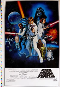 Star Wars poster from 1977. This is an uncut printers proof